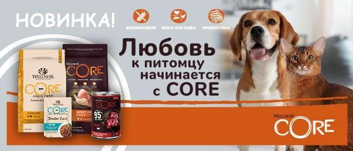 Новинка! Wellness CORE — беззерновые корма для собак и кошек
